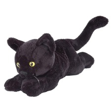 Wild Republic Cat Floppy Black Shorthair 7