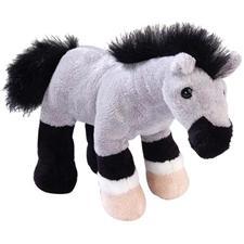 "Wild Republic Horse Standing Blue Roan 7"""