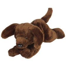 "Wild Republic Dog Floppy Choc Lab Ret 7"" (D)"