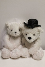 "Beverly Hills Teddy Bear 16"" Bride & Groom Bear - Groom"