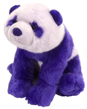 "12"" Wild Republic Cuddlekins-Vibes Panda Violet discontinued"