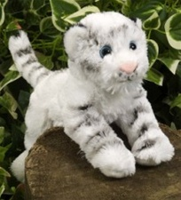 "7"" Wild Republic Hug Ems Tiger White discontinued"