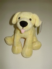 "6"" Wild Republic  Tumblers Dog Yellow Lab discontinued"