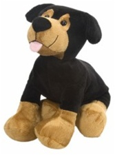 "12"" Wild Republic  Tumblers Dog Rottweiler discontinued"