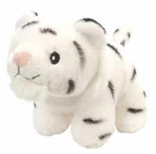 "4.5"" Wild Republic Pudgy Pals Tiger White  discontinued"