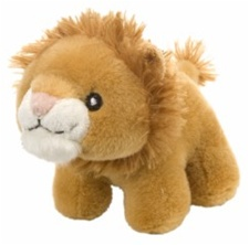 "4.5"" Wild Republic Pudgy Pals Lion  discontinued"