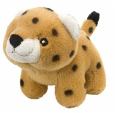 "4.5"" Wild Republic Pudgy Pals Leopard  discontinued"