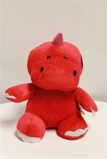 "Beverly Hills Teddy Bear 10"" Dragon & Dinosaurs-RED"