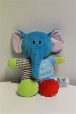 "Beverly Hills Teddy Bear 9"" Plush Polkadozles Rattle-ELEPHANT"