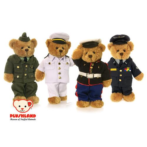 "Baby Tv Rug: Plushland 8"" US Military Bears"