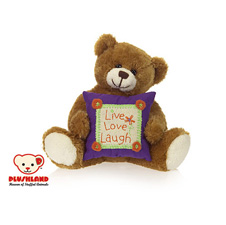 "Plushland ""Live, Love, Laugh"" Bear 8"""