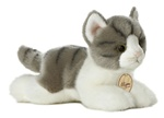 "Aurora 8"" GREY TABBY CAT"
