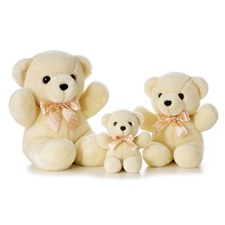 "Aurora 13"" Hug Me Cream Bear"