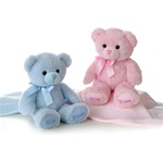 "Aurora 12"" Blessings Bear - Blue Boy Bear"