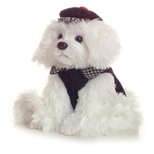 "Aurora 10"" Fancy Pals Maltese with Outfit"