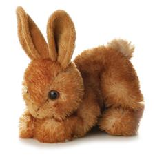 Aurora Bitty Brown Bunny Plush Toy