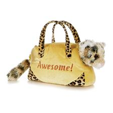 "Aurora 8"" Fancy Pals Awesome Leopard with Pet Carrier (disc)"