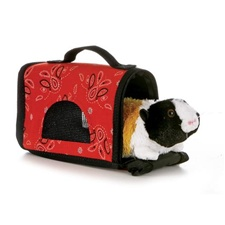 "Aurora 8"" Fancy Pals Guinea Pig with Pet Carrier Discontinued"