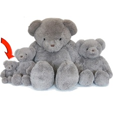 "Beverly Hills Teddy Bear Deluxe 8"" Gray Belvedere"