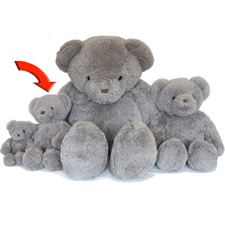 "Beverly Hills Teddy Bear Deluxe 15"" Gray Belvedere"
