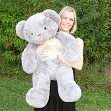 "Beverly Hills Teddy Bear Deluxe 36"" Gray Belvedere"