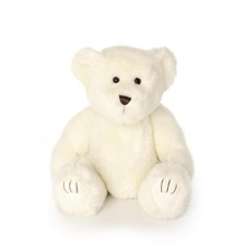 "Beverly Hills Teddy Bear Deluxe 20"" White Bentley Bear"
