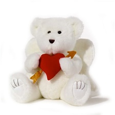 "Beverly Hills Teddy Bear Deluxe 16"" White Bentley"