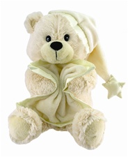 "10"" Cuddle Barn Bedtime Bear-Sings 'Brahm's Lullaby Disc"