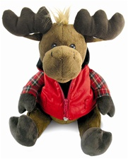 "12"" Cuddle Barn Moose On Da Loose- Sings 'Hit Me With Your Best Shot' (disc)"