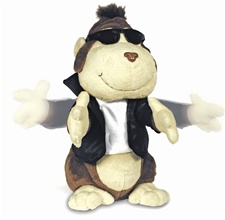 "13"" Cuddle Barn Chubby Chester- Sings 'Let's Twist Again' (disc)"