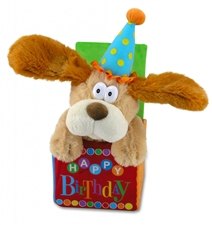 "12"" Cuddle Barn Flappy Birthday- Sings '""They Say It's Your Birthday"""