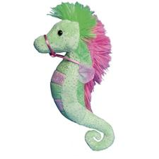 "Douglas 9"" Tall Lime & Pink Sea Horse"