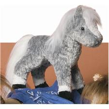 "Douglas 9"" Tall Kohair Shady Dappled Gray Horse"