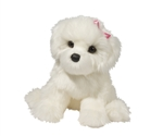 "Douglas 16"" Coconut Bichon Dog"