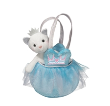 "Douglas 7"" Princess Blue Tote with Cat"