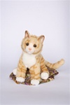 "Douglas 12"" PEACHES ORANGE TIGER CAT"