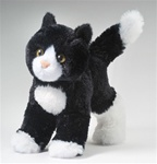 "Douglas 8"" SNIPPY BLACK/WHITE CAT"