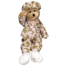 "19""  American GI Hero Bear sings ""God Bless The USA"""