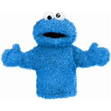 "Gund Cookie Monster 11"" Hand Puppet"