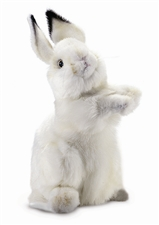 "14"" Hansa Rabbit Baby White"