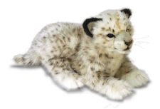 "14"" Hansa Snow Leopard Laying"