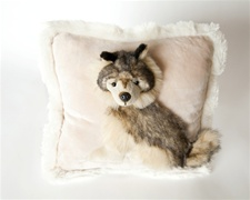 "Jaag 12"" Pillow Pals Wolf"