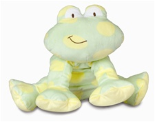 "12"" Kids Preferred Spotted Frog Large Healthy Baby Line (Asthma & Allergy Friendly)"