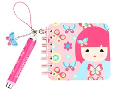 "3"" Kids Preferred 'Kimmidoll Junior' Ellie Mini Notebook and Pen"