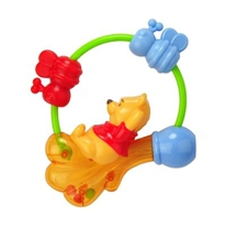 "Disney 7"" Kids Preferred Winnie the Pooh Rattle"