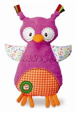 "10"" Kids Preferred Smarty Kids Owl Comfort Cuddly"