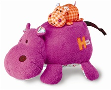 "10"" Kids Preferred Smarty Kids Mama Baby Hippo Plays ""Rock A Bye Baby"""