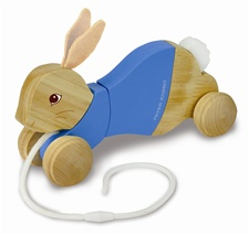"9"" Kids Preferred Peter Rabbit Wood Pull Toy"