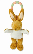 "6"" Kids Preferred On-The-Go Nutbrown Hare Plays 'Rock a Bye Baby"" and lights in ears"