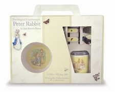 Kids Preferred Peter Rabbit 5-Piece Melamine Set-Includes Plate, Bowl, Sippy Cup, Fork and Spoon